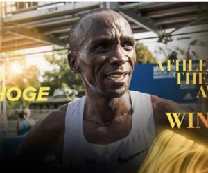 Eliud Kipchoge of Kenya is IAAF male athlete of the year.